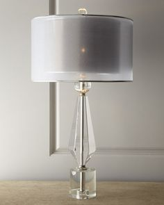 H5B4W John-Richard Collection Double Shade Crystal Lamp