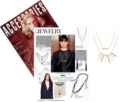 Accessories Magazine loves our Rebel Cluster Necklace in Gold!
