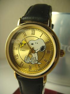 Women's Retro Snoopy Woodstock Gold Coin Edge Wrist Watch by Armitron TM Peanuts - GORGEOUS!