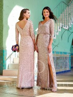Flared Bridesmaid Dresses, Wedding Dresses, Gown Photos, Sequin Gown, Dress Out, Dress Picture, Adrianna Papell, Mother Of The Bride, Fit And Flare