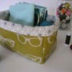 DIY Fabric Storage Bins {Tutorial}