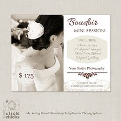 Boudoir Mini Sessions Template  Photography by ClickChicksDesigns, $8.00