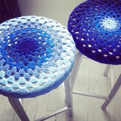 Free crochet pattern for barstool covers
