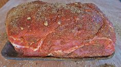 This pulled pork spice rub includes brown sugar, paprika, garlic, kosher salt, and dry mustard. Oven Roasted Pulled Pork, Pulled Pork Roast, Pork Recipes, Cooking Recipes, Cubano Sandwich, Smoked Pork, Chicken Dips, Dry Mustard, Spice Rub