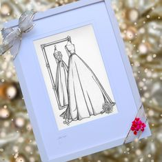 Christmas is but 6 weeks away - have you thought about gifts? You can have a custom wedding dress illustration from Irish artist Audrey Vance if you wish to order quickly. Last few spaces still available with guaranteed Dec 25th delivery Mirror View Sketch - front and back of the wedding dress, with bouquet and shoes. www.weddingdressink.com/shop/mirrow-view-sketch #christmasgiftideas #christmas2020 #christmasgifts2020 #weddingdressink #irishmade #shoplocal #buyirish