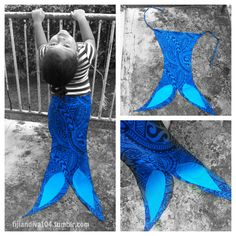 Prototype Tribal Mermaid Tail has Miss Soon to be 3 in fits of giggles as she splashes around the lounge