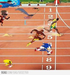 His name is Bolt, Usain Bolt!!!