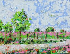 """""""Cross Roads"""" by Winston Wiant. 14 x 18 inches. Acrylic on gallery wrapped canvas. SOLD"""