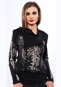 Skeleton Moto Jacket in XL ( or XXL)