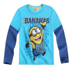 Is your little rascal powered by bananas? Then get him this adorable Despicable Me t shirt with long sleeves, crew neck collar and a large Minion print. Free delivery!