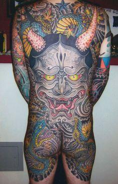 Tim Lehi || #traditionaltattoos #japanesetattoos #tattoos #hanya #backpiece