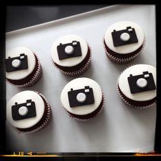 Camera Fondant Cupcake