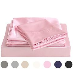 be4c7a7eee2 Satin Bedding, Twin Sheet Sets, Pink Satin, Bed Sheets, Swag, Swag Style