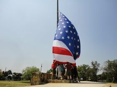 Raising of the Garrison Flag at Worth Ranch. c2012