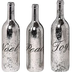 Mercury Glass Christmas Bottle.