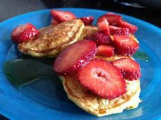 """Ingredients:  Servings: 1  1/2 cup oatmeal  1/2 cup cottage cheese  1 teaspoon vanilla  4 egg whites  Directions:  Blend all ingredients in blender.  Spray skillet with cooking spray and cook just like""""silver dollar"""" pancakes, a few small ones at a time.  Top with your favorite pancake topping! Source:http://www.food.com/recipe/oatmeal-cottage-cheese-pancakes-43072"""