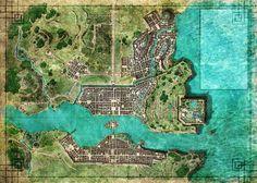Fantasy Map, Medieval Fantasy, Fantasy World, Imperial Palace, Amaterasu, Crane, Futuristic, Illustration, City Photo