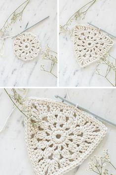 Crochet Bunting, Crochet Garland, Crochet Decoration, Crochet Pillow, Crochet Art, Vintage Crochet, Crochet Stitches, Crochet Patterns, Crochet Home