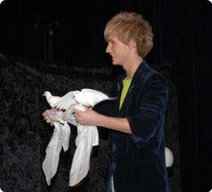 performing magic artist DION, Dove Magic - Magician & Dancer www.dionillusion.com