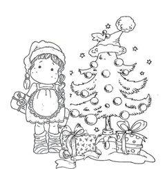 Christmas Coloring Pages, Coloring Book Pages, Christmas Cards To Make, Christmas Colors, Magnolia Colors, Christmas Scrapbook, Christmas Embroidery, Copics, Coloring For Kids