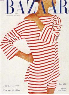 Harper's Bazaar - June, 1951-  stripes role!now and then:))