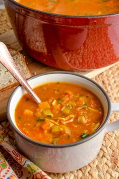 Slimming Eats Syn Free Spicy Chicken and Vegetable Soup - gluten free, dairy free, instant pot, paleo, Slimming World and Weight Watchers friendly Vegetable Soup Healthy, Healthy Vegetables, Chicken And Vegetables, Veg Soup, Healthy Soup, Healthy Chicken, Veggies, Instant Pot, Slimming World Recipes Syn Free
