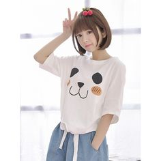 Cute Dog Tie Front T-Shirt