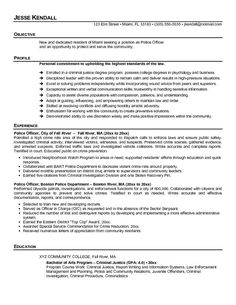 police officer resume examples no experience if you want to become