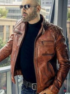 Size chart leather fashion, men's fashion, fashion night, trendy mens f Men's Leather Jacket, Leather Men, Real Leather, Leather Jackets, Jacket Men, Herren Outfit, Men Style Tips, Fashion Night, Menswear