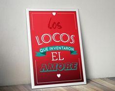 Poster El Amore com moldura