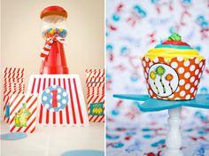 1st Birthday Baby Dr. Seuss Style Theme   Birthday Party Ideas 2015