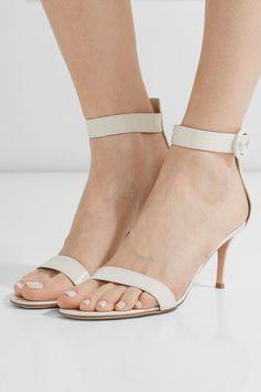 Gianvito Rossi - Portofino Patent-leather Sandals - White - IT39.5