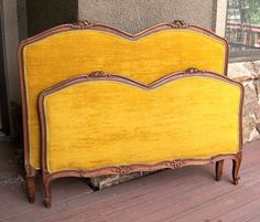 Louis XVI bed French Provincial XV Hollywood by AntiqueAddictions