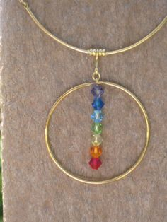 Chakra Pendant Necklace - made with  Swarovski crystals  $29  www.chakrasecrets.net