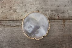 Gold Rimmed Natural Agate Coasters by Heritage1956, $52.00