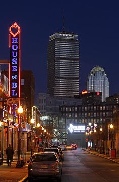 Bean Town skyline photography showing the Boston House of Blues, Prudential Center, 111 Huntington Avenue and Sheraton Hotel in November 2013. The House of Blues is located across the street from Boston Fenway Park, home of the 2013 World Champions. My best, Juergen www.RothGalleries.com https://www.facebook.com/naturefineart @NatureFineArt