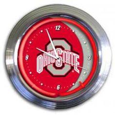 "Ohio State Buckeyes Officially Licensed Varsity 14"" Neon Clock"