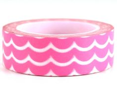 Pink Icing – GetWashi.com - Pink and white washi tape that looks like icing on a cake.  $1.97