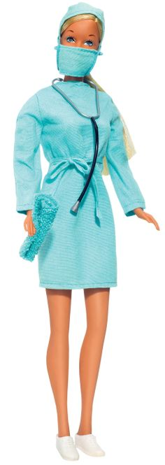 In 1973, Barbie was a surgeon. Photo credit: Mattel Inc.
