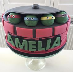 Teenage Mutant Ninja Turtle Cake for Girls x