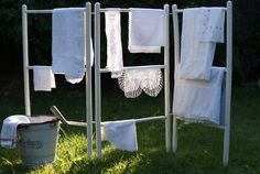 drying on the rack outside, another reason I miss summer, I like to hang dry clothes outside Hang Dry Clothes, Indoor Clothes Lines, Diy Clothes For School, Laundry Decor, Laundry Room, Laundry Drying, Diy Clothes Refashion, Diy Clothes Videos, Hanging Dryer