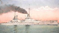 German Battleship SMS Friedrick der Grosse Admiral Scheer's Fleet Flagship at the Battle of Jutland on 31st May 1916