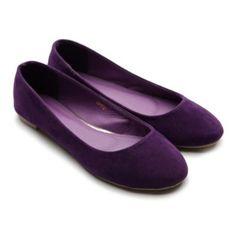 purple flats for me to wear. I don't like high heels.