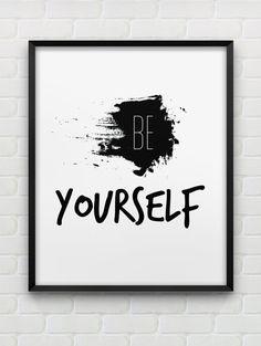 printable 'Be Yourself' wall art // instant von spellandtell