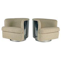 Chrome Milo Baughman Chairs - new upholstery