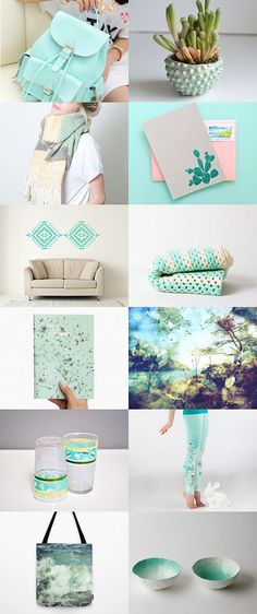 Mint-tastic by Delia on Etsy--Pinned with TreasuryPin.com