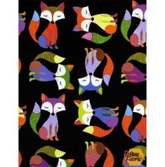Fun: Foxes - Timeless Treasures 1477black