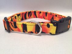 Hot Flames Dog Collar by ALeashACollar on Etsy