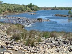 River Vaal, near the entrance to the former Vaalbos National Park