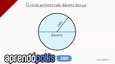 El círculo: perímetro, radio, diámetro, área y Pi